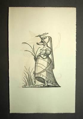 Usado, VESTIDO ARMADURA DE CABALLERO HELM alegoría la edad era grabado caricatura 19eme segunda mano  Embacar hacia Mexico