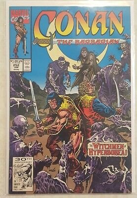 CONAN THE BARBARIAN #252 MARVEL COMIC w BAG & BOARD THE WITCHMEN OF HYPERBOREA