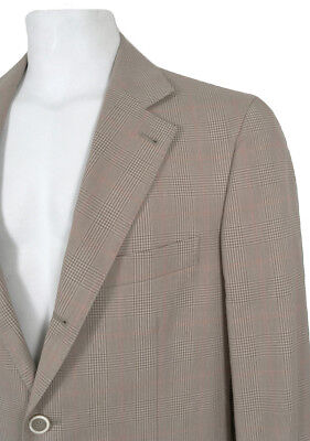 NEW $2895 Brunello Cucinelli Sportcoat Jacket!   US 40 e 50  Tan Plaid  Cotton
