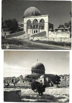 ISLAM PALESTINE ISRAEL JERUSALEM OMAR MOSQUE AND AL AQSA 2 OLD ORIGINAL PHOTOS