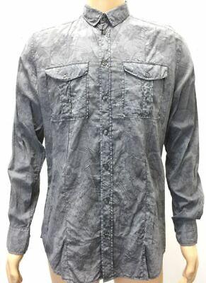 $795 DOLCE & GABBANA 15.75 / 40 Men's GRAY FLORAL LONG SLEEVE COTTON DRESS (Dolce & Gabbana Cotton Dress Shirt)