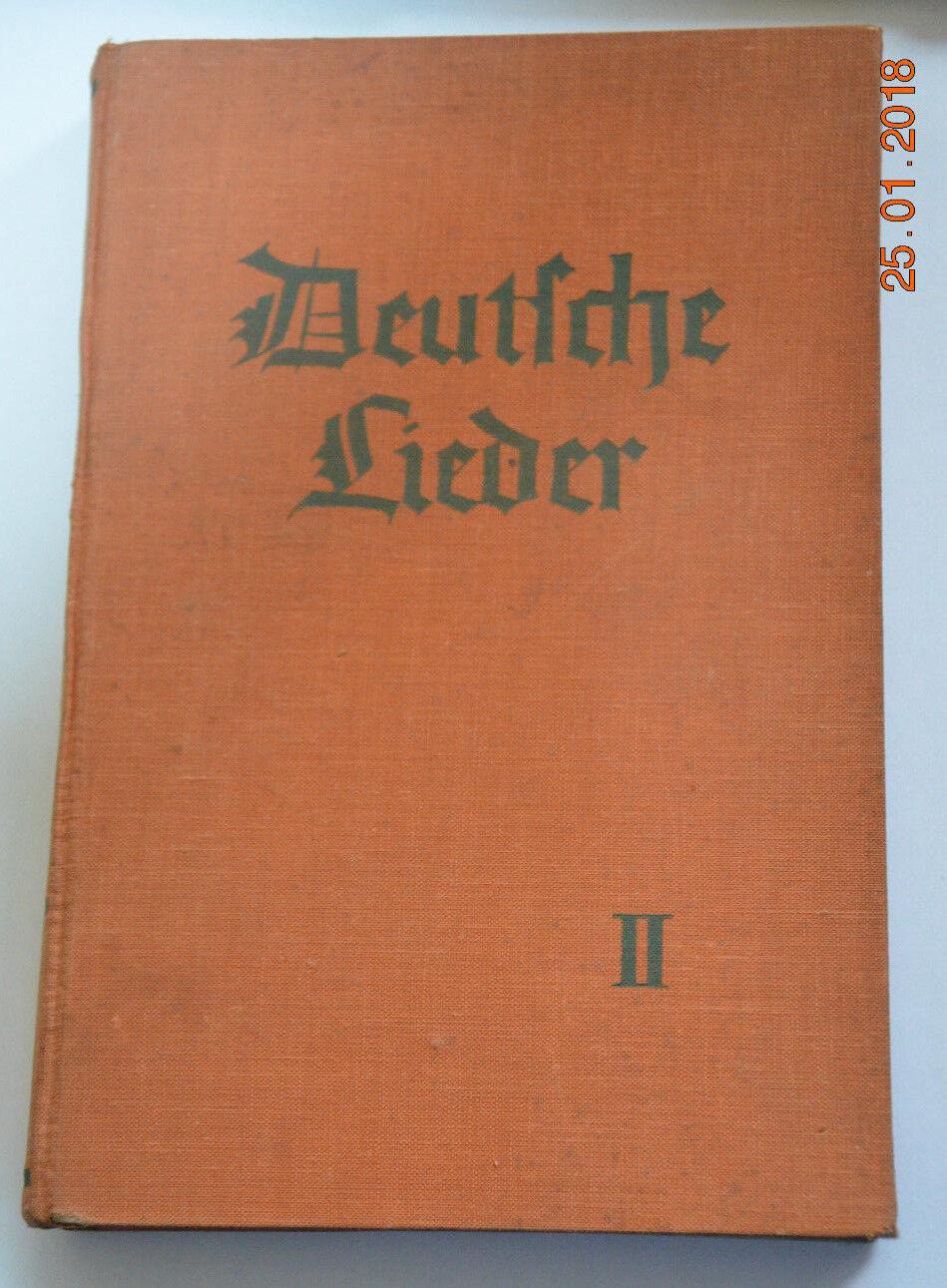 Uralt Deutsche Lieder Singbuch für höhere Schulen Württembergs. Aichele Band 2
