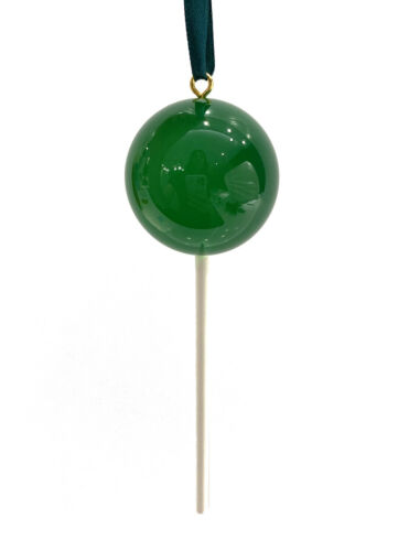 OPAQUE Dark Green Candy Lollipop Christmas Ornament Pick Prop Easter