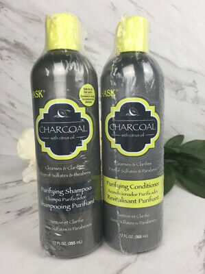 Hask Charcoal with Citrus Oil Purifying Shampoo & Conditioner Combo - Full Size