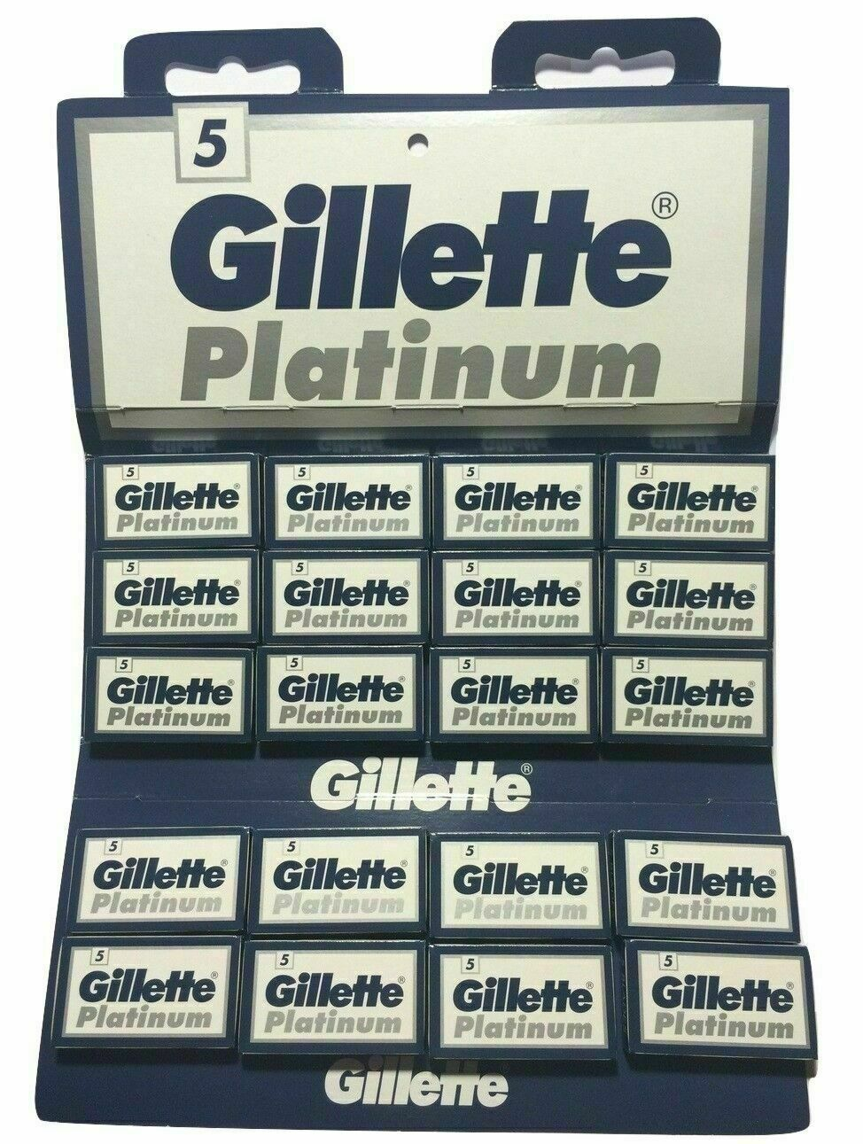 100 platinum double edge razor blades