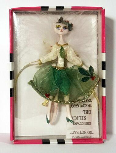 Cat Pin Christmas Glamour Kitty Momo Cloth Green Holly Ornament