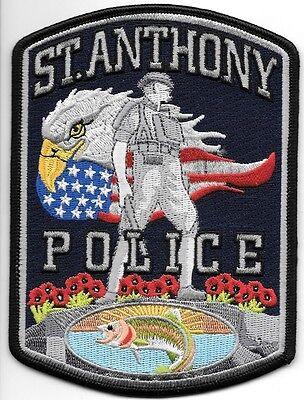 "St. Anthony, Idaho  (4"" x 5.5"" size) shoulder police patch (fire)"