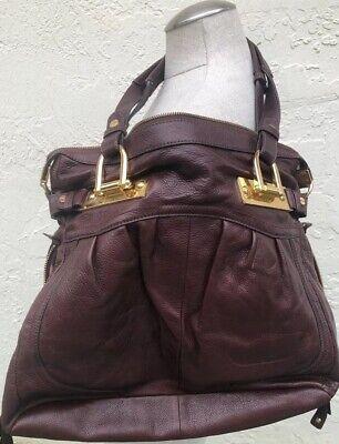 B.MAKOWSKY WOMEN'S SHOULDER BAG DOUBLE HANDLE STRAPS PEBBLE LEATHER HANDBAG