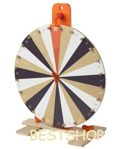 """Ikea Tabletop 15"""" Prize Wheel Spinner 24 Slots numbers,colours symbol Spin Game"""