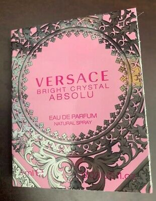 Versace Bright Crystal Absolu Eau de Parfum Spray Trial Sample 0.03 fl. oz.