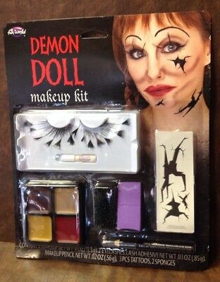 DEMON DOLL FACE HALLOWEEN COSTUME MAKEUP KIT - Doll Face Makeup Halloween