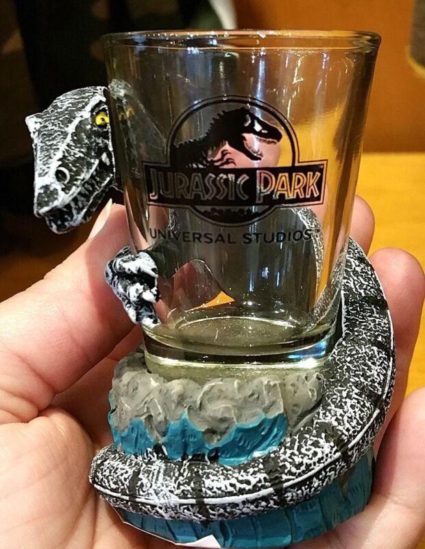 jurassic park raptor velociraptor dinosaurs shot glass