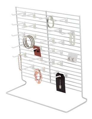 Earring Rack Countertop Jewelry Carded Hanging Display Wire White Stand 18 X 20