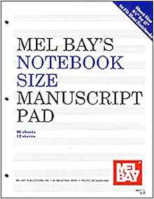 Notebook-Size Manuscript Pad 12-Stave, New, Various - Stave Manuscript Pad