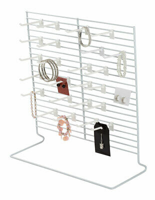 24-peg White Wire Countertop Rack - 18w X 20h