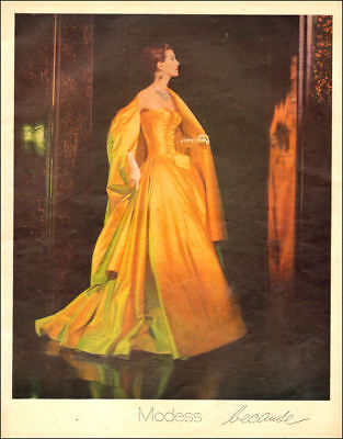 1958 vintage AD MODESS..because, very elegant Lady 092218