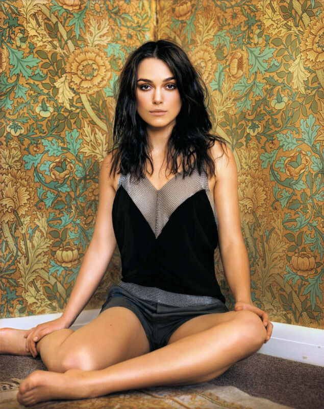 Keira Knightley Posing On The Floor 8x10 Photo Print