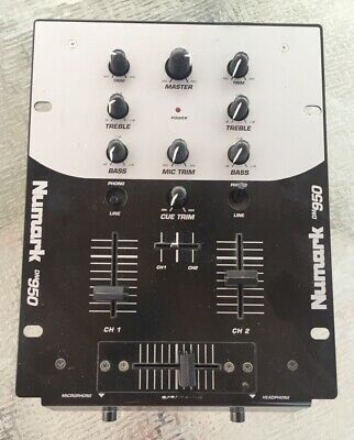 Numark DM950 2 Channel DJ Mixer used - no power cord - Free Shipping
