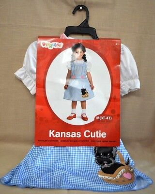 Halloween KANSAS Cutie TODDLER Costume SZ 3T - 4T CHILD New Blue PINK GIRL Puppy - 3t Dorothy Costume