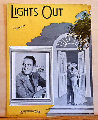 Lights Out - 1935 sheet music - by Billy Hill, Guy Lombardo photo cover
