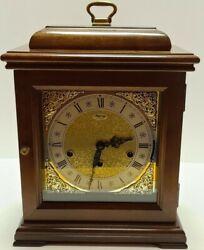 Vintage Franz Hermle Germany Ridgeway Triple Chime Bracket Mantel Clock 517