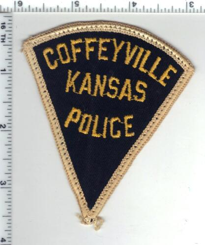Coffeyville Police (Kansas) uniform take-off patch from the 1970