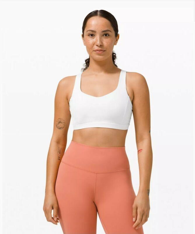 NWT Lululemon Free To Be Serene Bra White sz 12 New Sports Gym Top