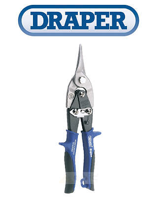 "DRAPER 49905 10"" 250mm Straight Cut Compound Aviation Metal Tin Snips Shears"