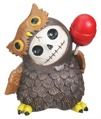 FURRY BONES FIGURINE - HOOTIE THE OWL  - NEW IN BOX SKELETON FACE IN COSTUME