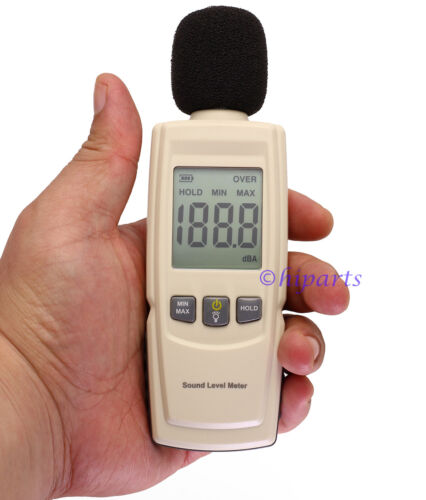 Digital Decibel Meter Reader Sound Level Tester Measurement Range 30-130dBA LCD