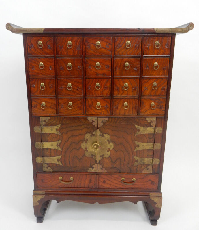 Chinese Hardwood Altar Table Spice Cabinet 32 inches