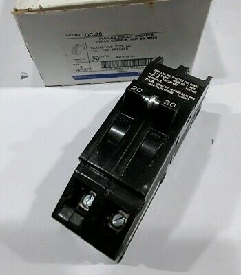 Qc-20 Thomas Belt 2 Pole 20a 240vac Circuit Breaker Box Of 3 New