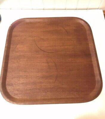 Vintage Large Teak Tray Sweden Design MCM 1960s 50s Barware Square