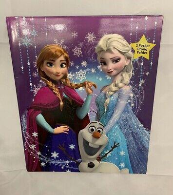 Disney Frozen Queen Elsa Princess Anna Sisterly Love 2-pocket W Prongs Folder