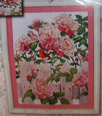 """New Design Works """"Roses in Provence"""" Counted Cross Stitch Kit - Comb.Ship.Offer."""