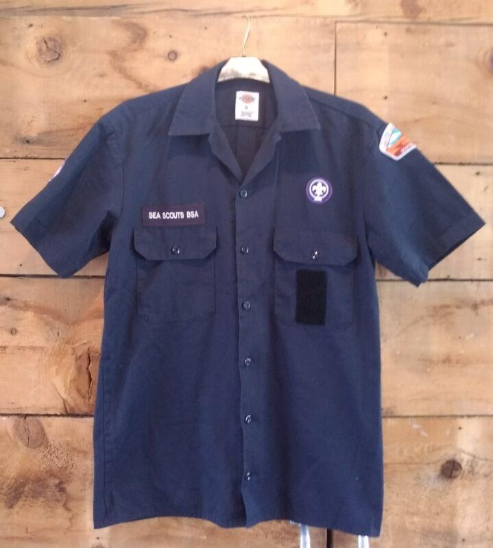 BSA Sea Scout Small scouting uniform shirt NAVY