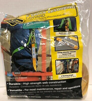 Werner Upgear 6 Ft. Shock Absorbing Lanyard Model C380000 New In Package