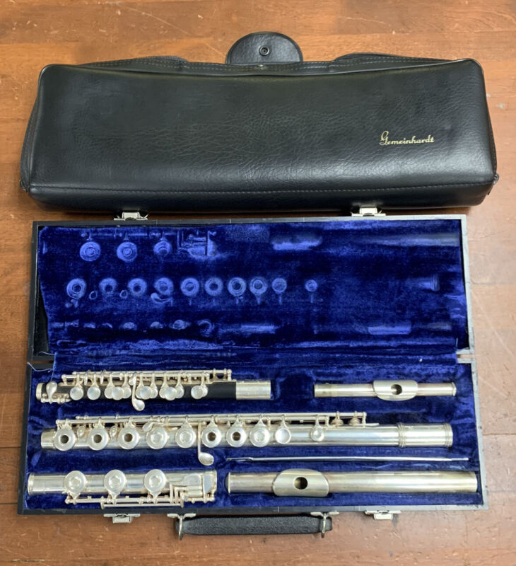 RARE Solid Silver Gemeinhardt Flute Piccolo M3S C  Combo With Case