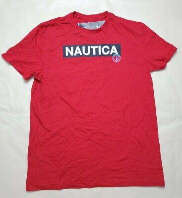 NWT Men's NAUTICA 6NR Naut Red Graphic Logo Crewneck T Shirt L Large