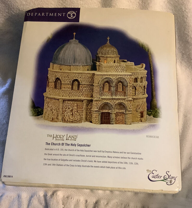 Dept 56 Holy Land Easter Story Church of The Holy Sepulcher Lighted 59814