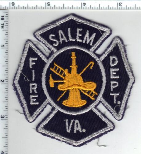 Salem Fire Dept. (Virginia) Uniform Take-Off Shoulder Patch from the 1980