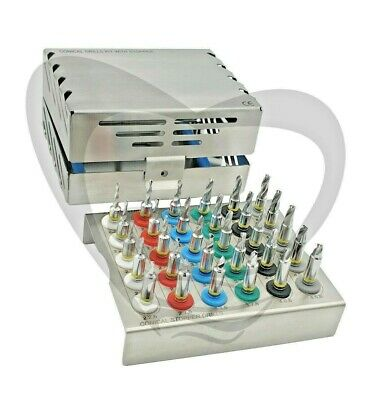 Dental Implant Conical Stopper Drills Kit  30 Pcs Kit
