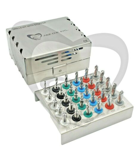 Dental Implant Twist Stopper Drills Kit 30 pieces, accurate depth control