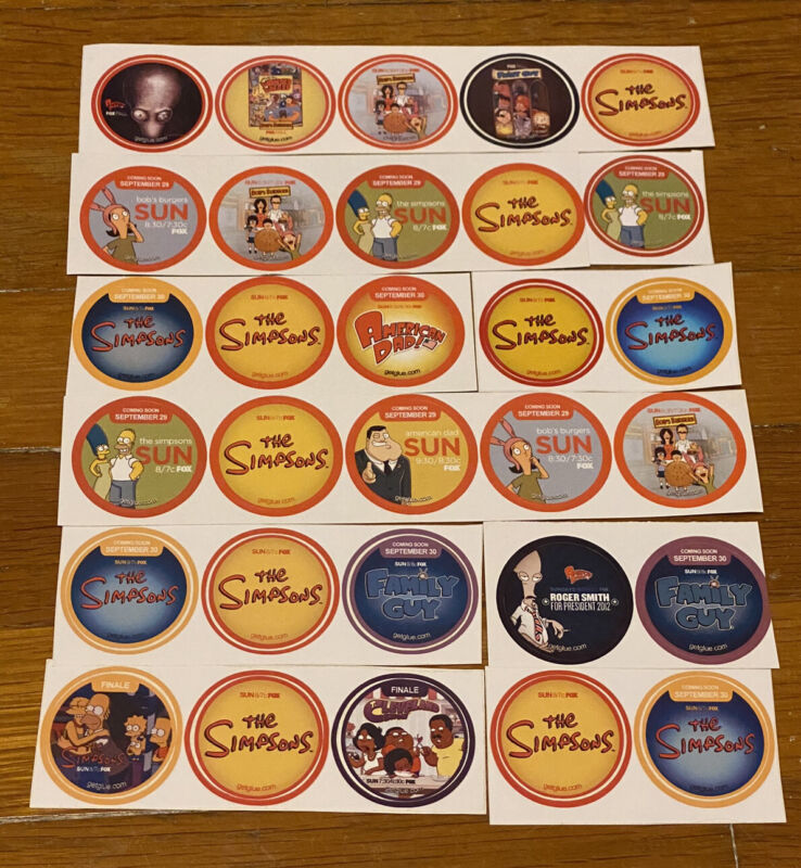 Getglue Stickers *The Simpsons *Bob's Burgers *Family Guy *see pictures