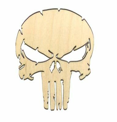 Punisher Skull Laser Cut Unfinished Wood Shape PS11067 Crafts Lindahl Woodcrafts](Skull Shapes)