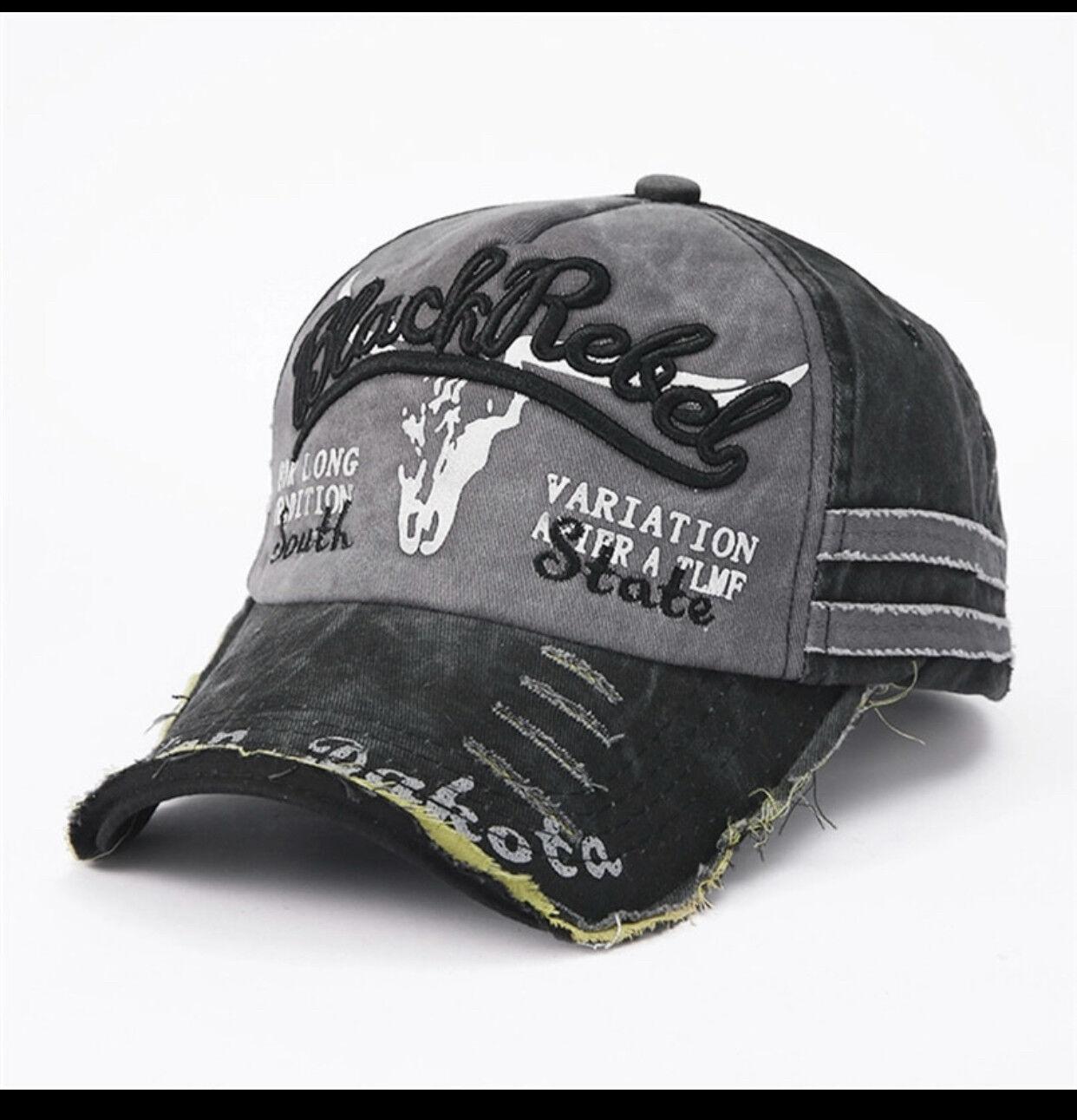 Black Rebel Indian Dakota Capy Basecap Mütze Unisex Must-Have Vintage Baseball