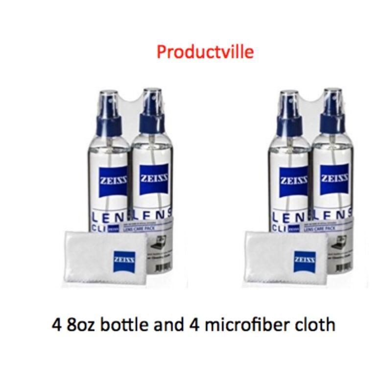4 Pack Zeiss Lens Cleaner Spray 8 Oz Bottles for Glasses Camera Laptops 32oz + 4