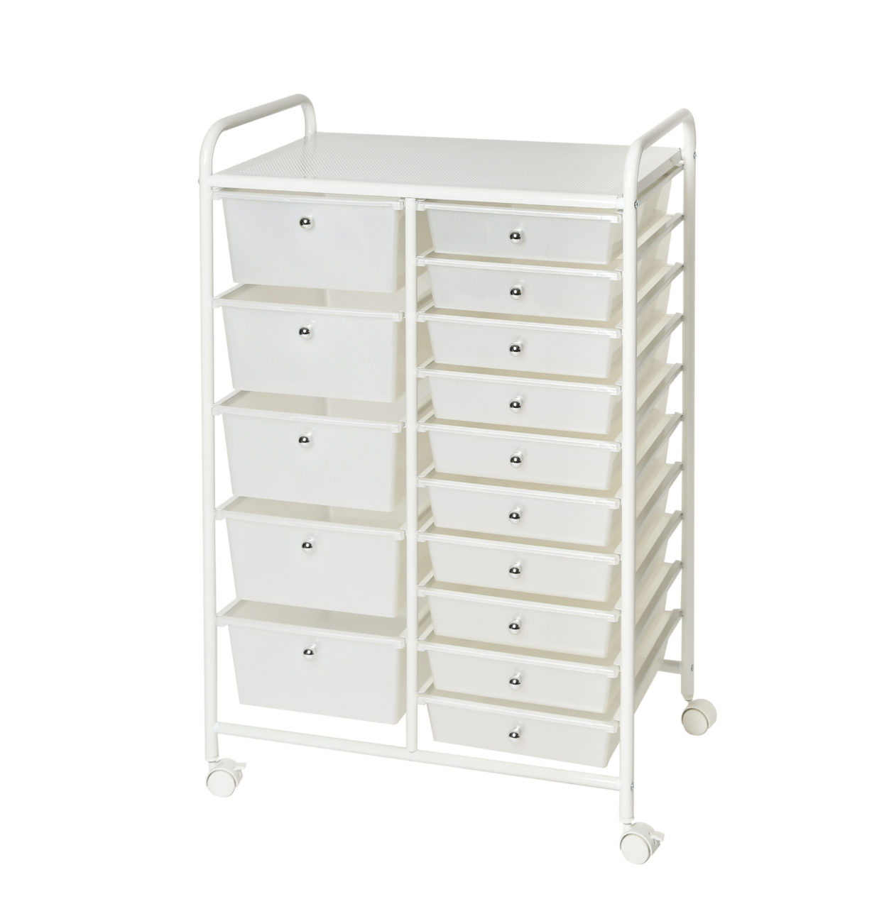 Seville Classics 15-Drawer Organizer Cart, White Home & Garden