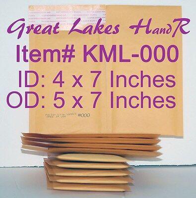 104 Kml-000 Self-sealing Kraft Bubble Cushioned Envelope Mailers Od 5 X 7