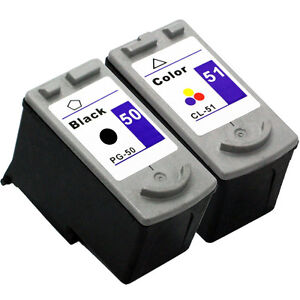 2 Canon PG-50 CL-51 Ink Cartridges For Pixma MP150 MP160 MP460 MX300 MX310 MP170
